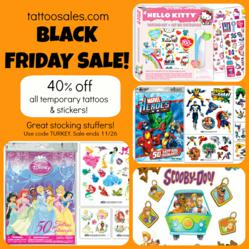 tattoosales.com Black Friday Sale - Temporary Tattoos and Stickers